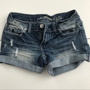 Almost Famous Clothing Short. Blue Shorts Stretchy